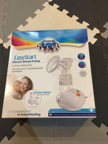 Jak nowy Laktator elektryczny Canpol EasyStart, 17 torebek do mleka