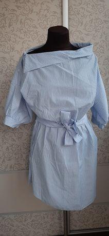 Платье рубашка туника новая C/M