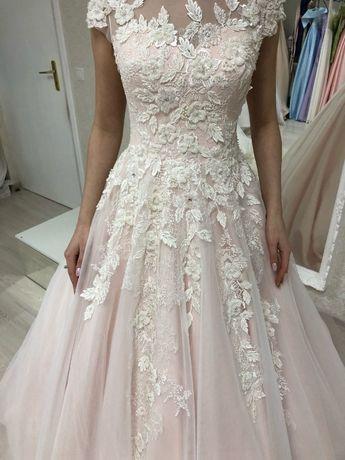 Весільна сукня ручної роботи, розмір xs-m, колір - пудра.Можливий торг