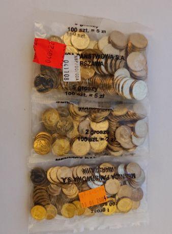 monety-1,2,5 groszy 2004 r woreczki mennicze - komplet