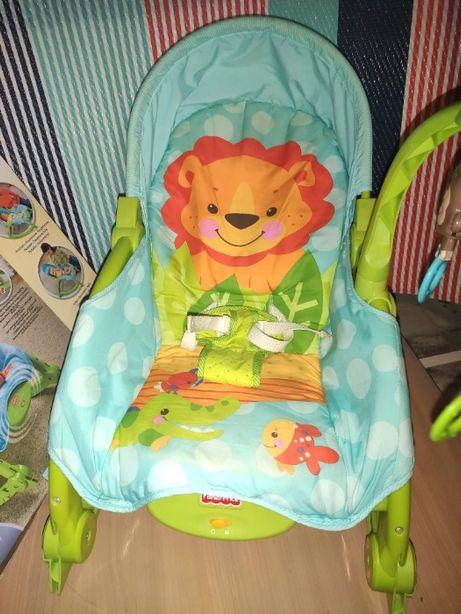 Fisher-Price Bujaczek Cudowna Planeta bujak krzesełko T4145 3w1 0-18kg