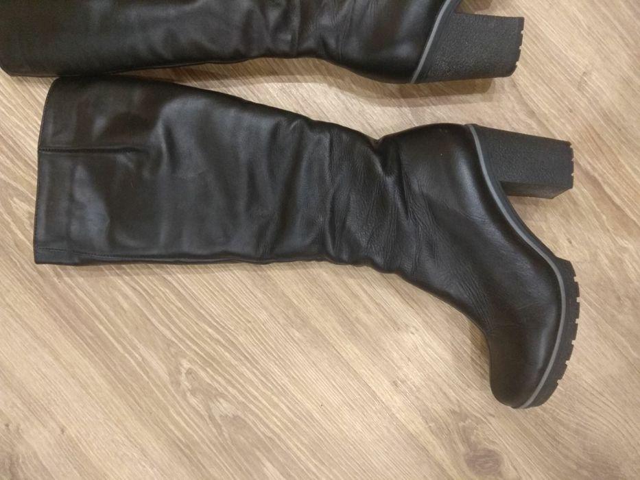 Продам зимние кожаные сапоги Белая Церковь - изображение 1