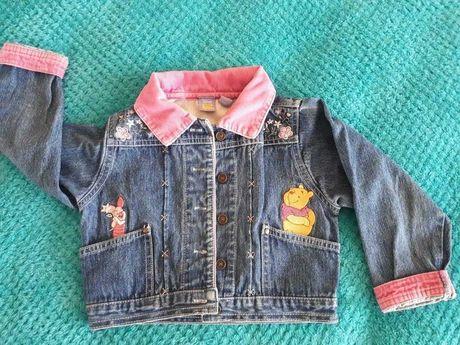Jeansowa bawełniana bluza kurtka Kubuś Puchatek