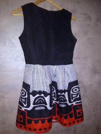 Bialo- czarna sukienka