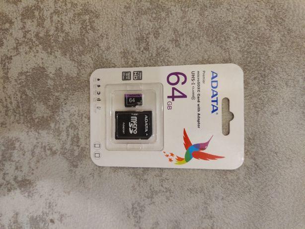 Карта пам'яті для телефону ADATA 64 GB microSD