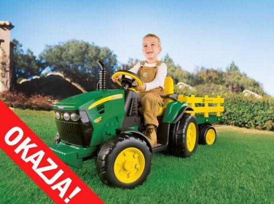 Traktor JOHN DEERE z przyczepką na akumulator elektryczny PEG-PEREGO
