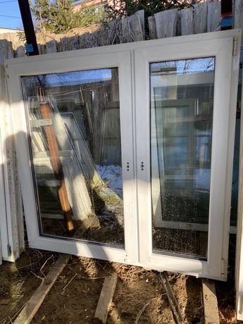 Okna używane dwuskrzydłowe 145 x 141