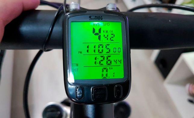 Велокомпьютер SunDing SD-563B спидометр, одометр, подсветка 24 функции