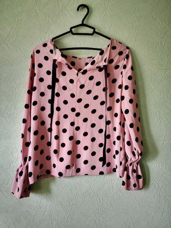 Блуза, блузка в горошек S