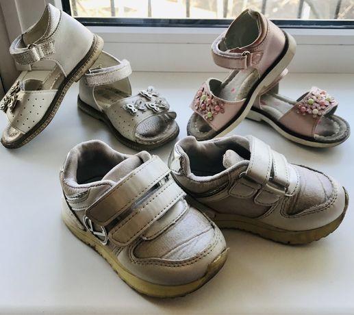 Обувь для девочки весна-лето босоножки и кроссовки