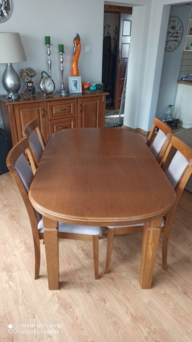 Stół dębowy z 6 krzesłami Opole Lubelskie - image 1