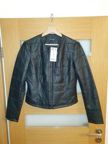 Orsay Czarna kurtka ze sztucznej skóry 38