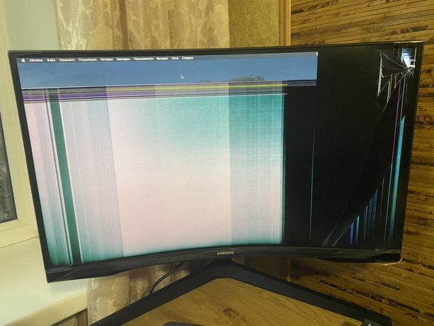 "Продам битый монитор 27"" Samsung Odyssey G5 LC27G54T Black (LC"