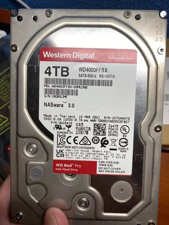 Продам HDD SATA 4.0TB WD Red Pro NAS 7200rpm 256MB (WD4003FFBX)