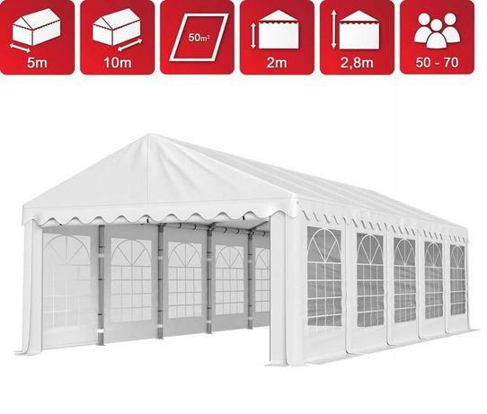 Namiot pawilon imprezowy duży 10mx5 ławki stoły wynajem polter komunia