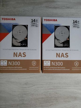 Chia Toshiba N300 14TB NAS (HDWG21EUZSVA) Новые, запечатанные