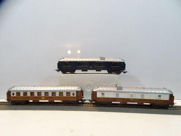 Zestaw 3szt wagon pasażerski bagażowy Pullman Lima skala H0 //119