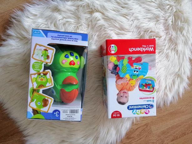 Zabawki interaktywne. Papuga gaduła i stoliczek clementoni