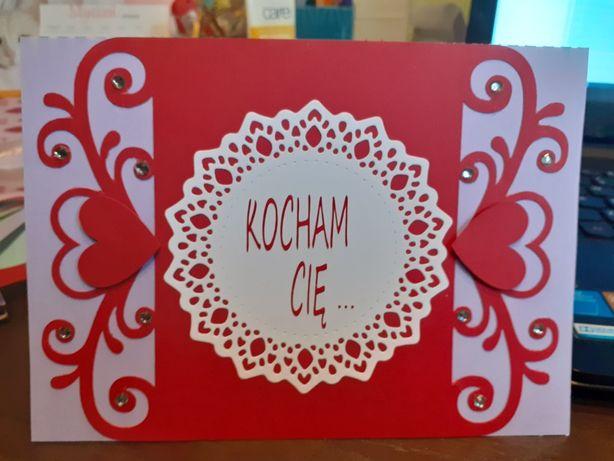 Kartki na różną okazję, ręcznie robione,oryginalne,kocham Cię, prezent