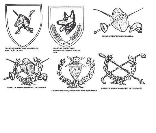 gnr crachas insignias militar exercito