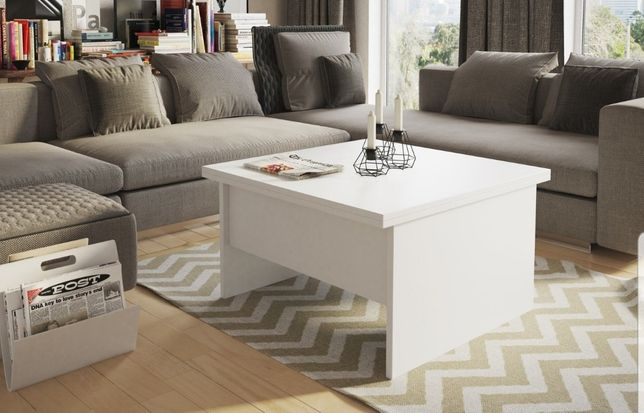 Stół ława rozkładany jadalnia salon stolik biały