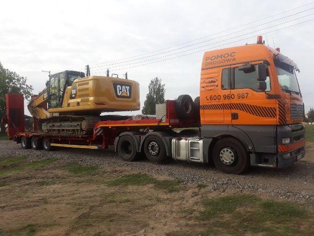 Transport niskopodwoziowy maszyn i koparek transport maszyn Poznań