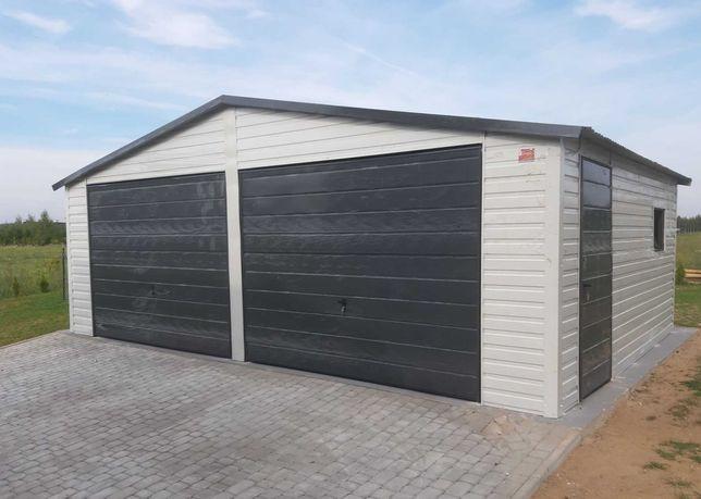 Wiata 35 m2 Garaż blaszak, 6x5,8 dwustanowiskowy blaszany PRODUCENT