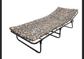 Раскладушка М30 с матрасом 3см,раскладная кровать, шезлонг, лежак