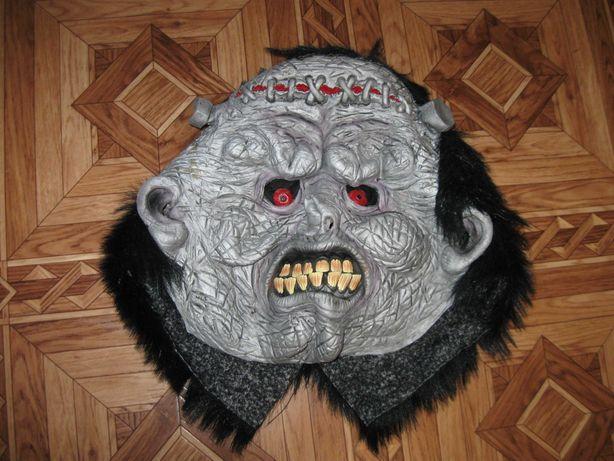 карнавальная маска резиновая на хэллоуин монстра Франкенштейна