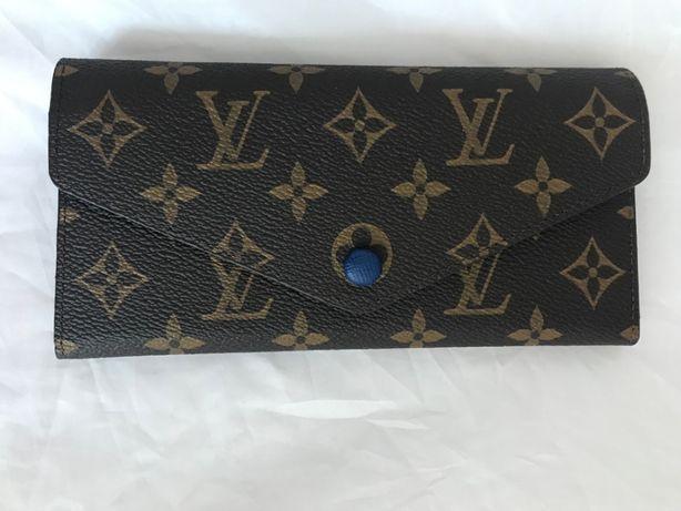 Louis Vuitton skórzany GRANAT monogram SKÓRA niebieski