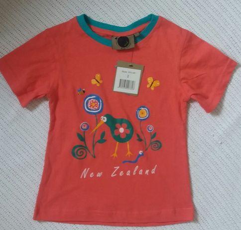 Крутая розовая футболка на девочку 2 лет