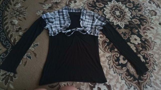 Кофта блуза школьная