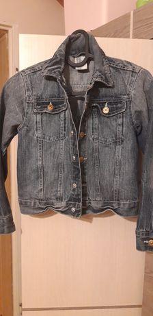 Dziewczęca kurtka jeansowa h&m 128