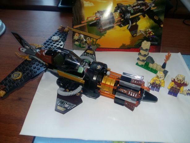 Лего Ninjago Ниндзяго Скорострельный истребитель Коула 70747