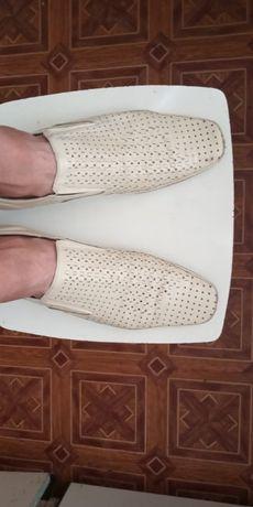 Кожаные летние туфли DOMAN.