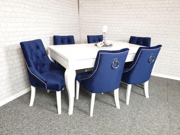 Glamour tapicerowane krzesło pinezki kołatką wygodne MODERN CLASSIC