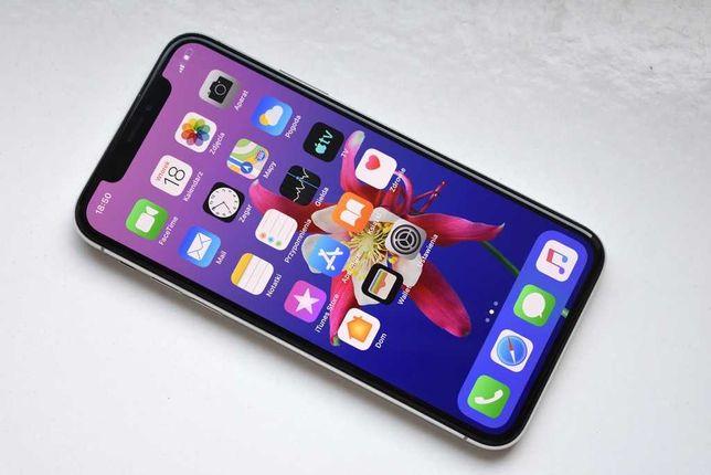 Apple iPhone X 64GB Silver Komplet!! Perfekcyjny Stan!! Xs 11