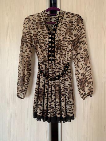 платье, принт леопард