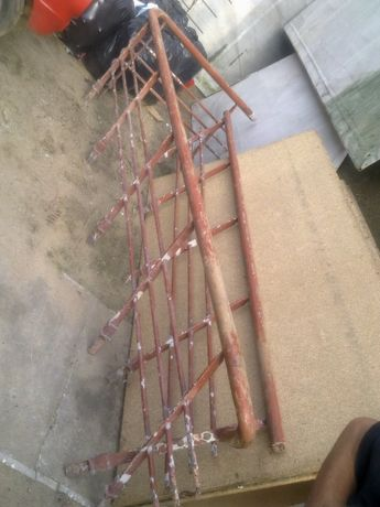 poręcz balustrada kuta zabytkowa stara do schodów modernizm 3 części