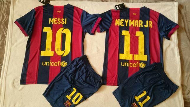 Komplet stroj piłkarski Fc Barcelona - Messi Neymar - wyprzedaż!