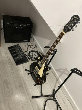 Epiphone les paul standard, piec wzmacniacz gitarowy, multiefekt boss