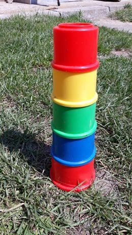 Piramida kubeczki zabawka