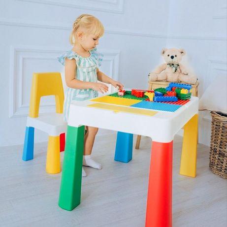 """Детский многофункциональный столик POPPET """"Колор 5 в 1"""" и стульчик"""