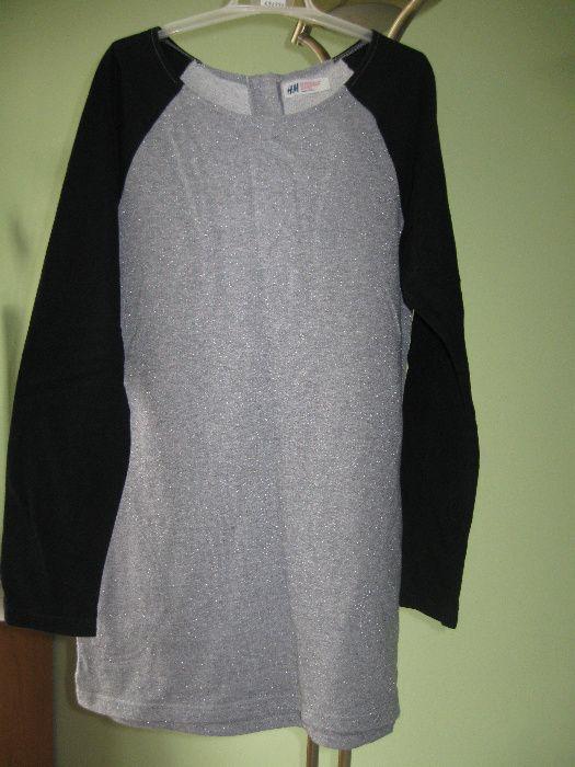 bluza dziewczęca srebrno czarna h&m Wołów - image 1