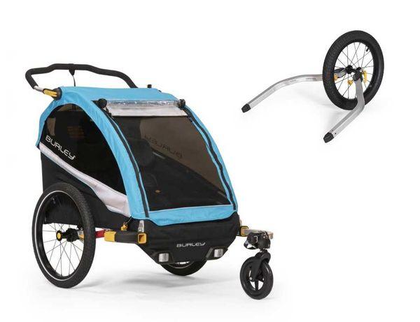 od ręki przyczepka rowerowa Burley D'Lite X Double z kołem joggingowym