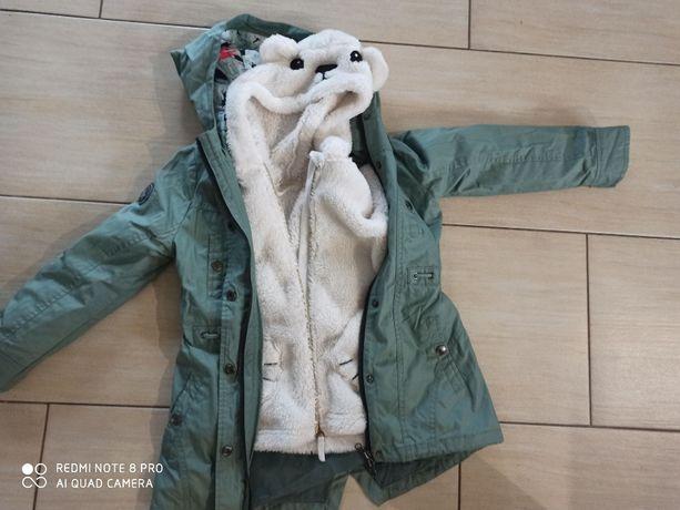 Przeciwdeszczowy płaszczyk Cocodrillo 122+ bluza hm, dziewczynka
