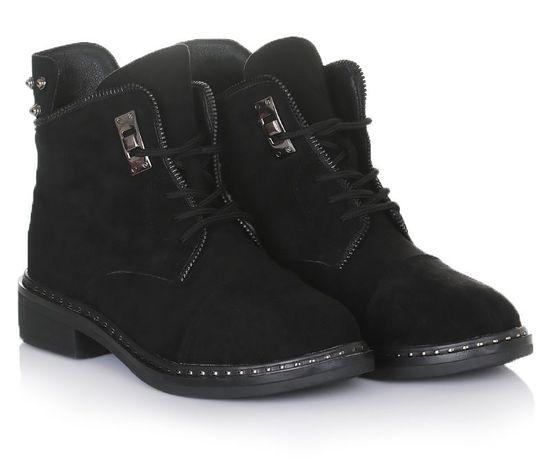 Черные женские ботинки зима зимняя обувь 36 38 39 40