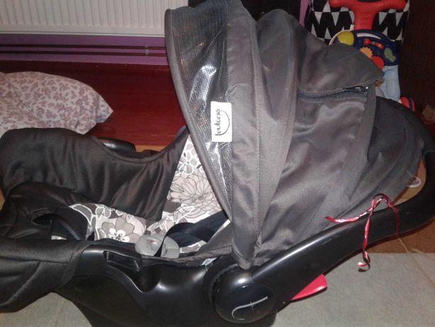 PROMO Fotelik samochodowy  TEUTONIA+stelaż+śpiworek, nosidełko 0-13 kg