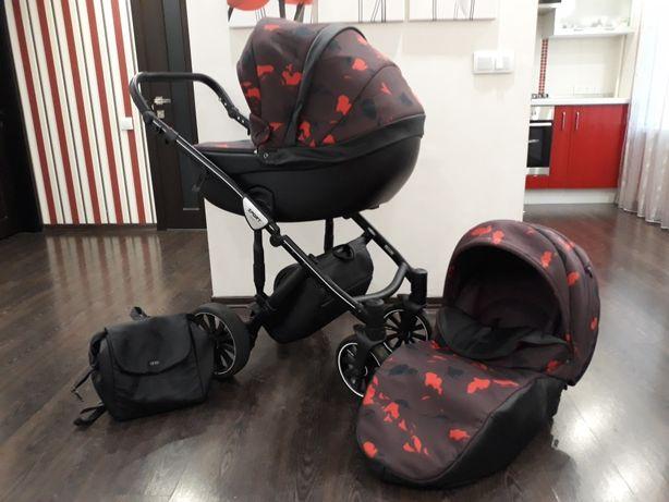 Детская коляска 2 в1 Anex Sport бордово-розовая (ANEX Q1-AB02)