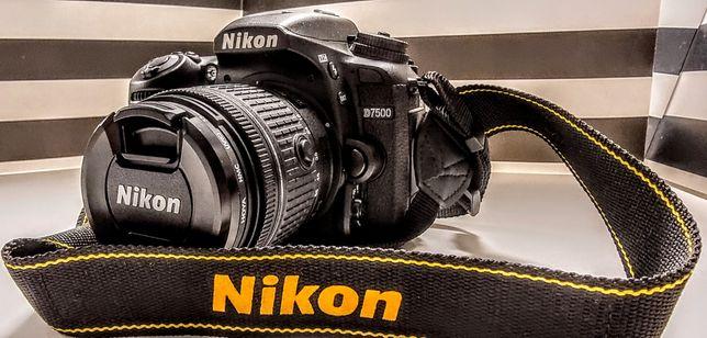Nikon d7500 Polska dy bluetooth gwarancja aparat obiektyw nikkor 18-55